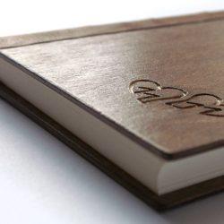 dřevěný deník Srdce