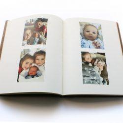 Dřevěná fotokniha blok