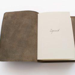 Kožený zápisník - hnědý