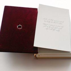 kožená kniha Pouto - procest výroby